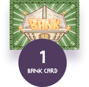 Bank card that is included in the Buurn game