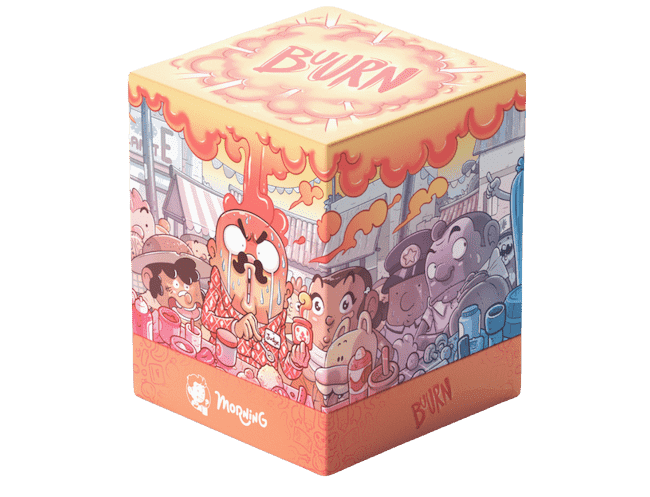 A cute cubic box of the Buurn game