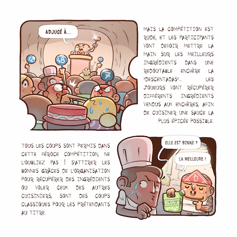 A comic book 3nd page with text and illustrations