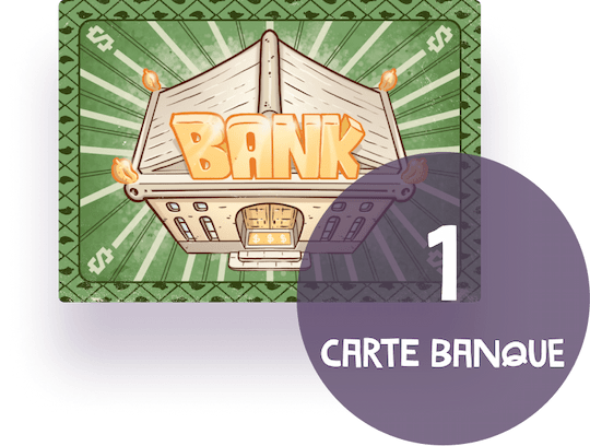 1 card of the Bank that is included in the Buurn game