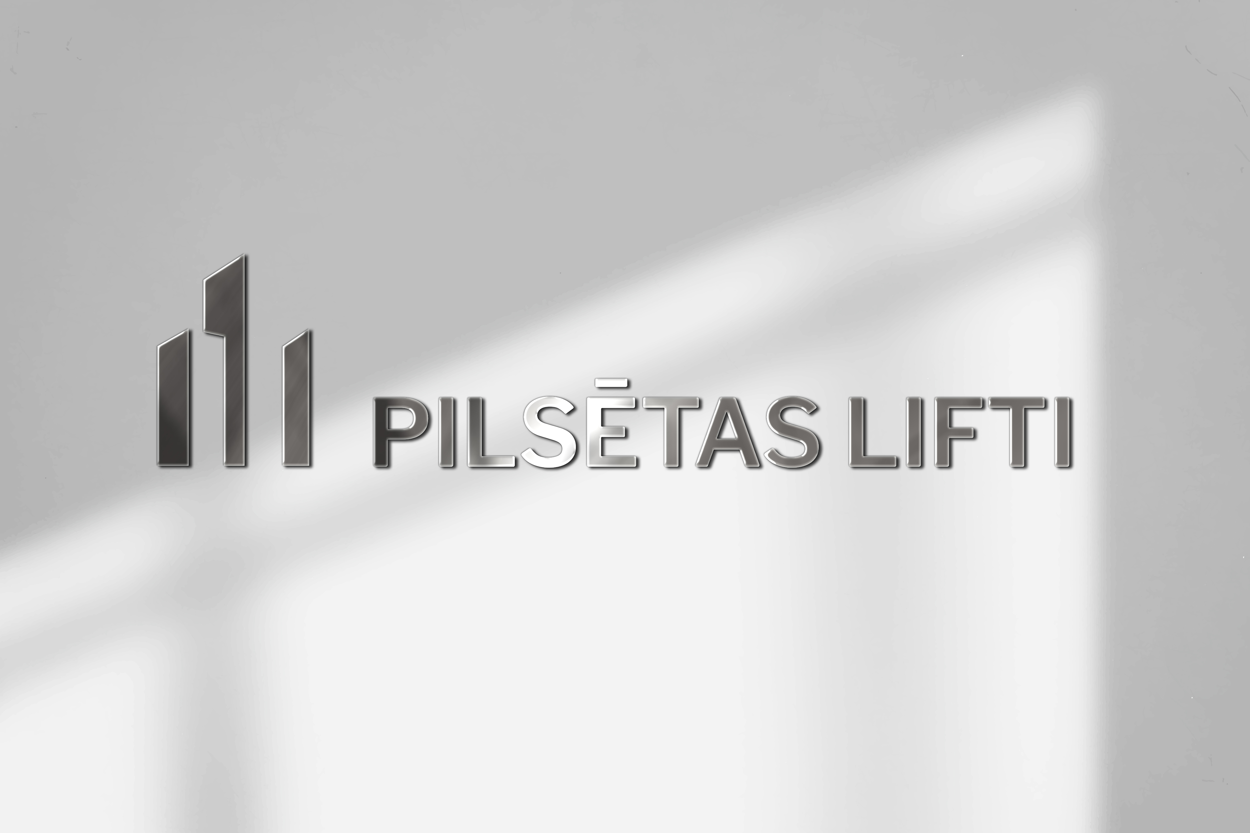 Pilsētas Lifti logo on a wall