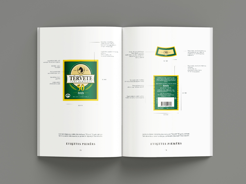 Tērvete brewery brandbook