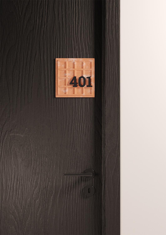 Tekstiliana apartment number plate