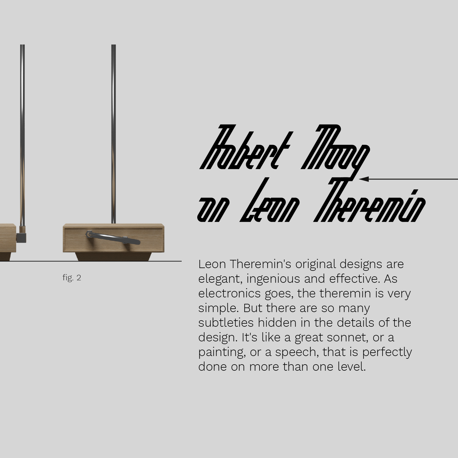 Melomaniaki typeface and theremin