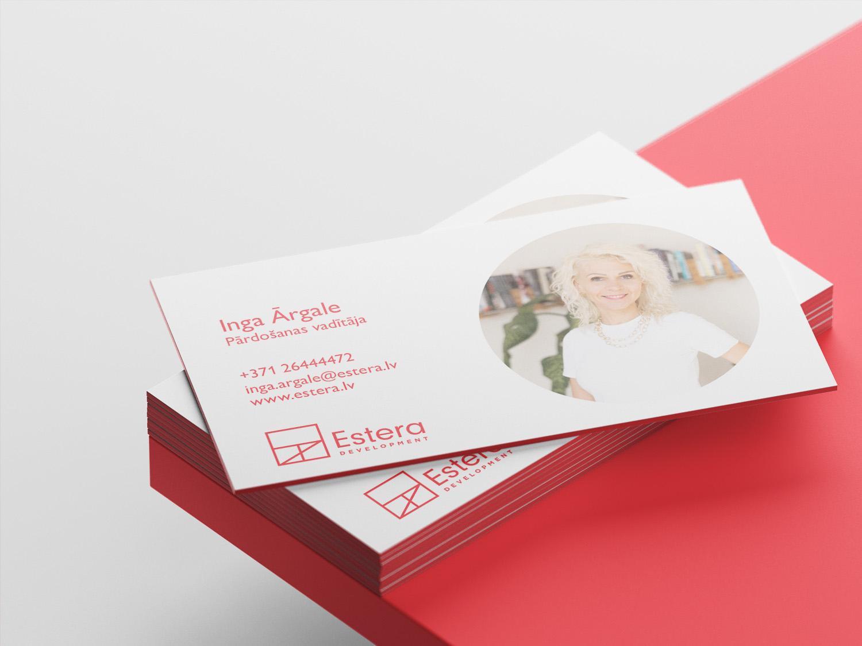 Estera Development business card
