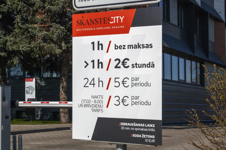 SkanstesCity - parking fee board