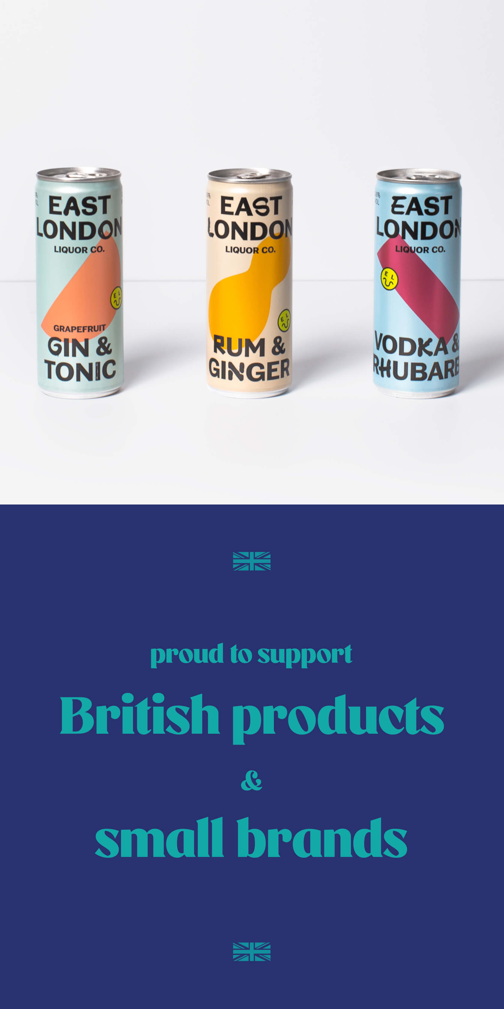 Proud to support British products & small brands