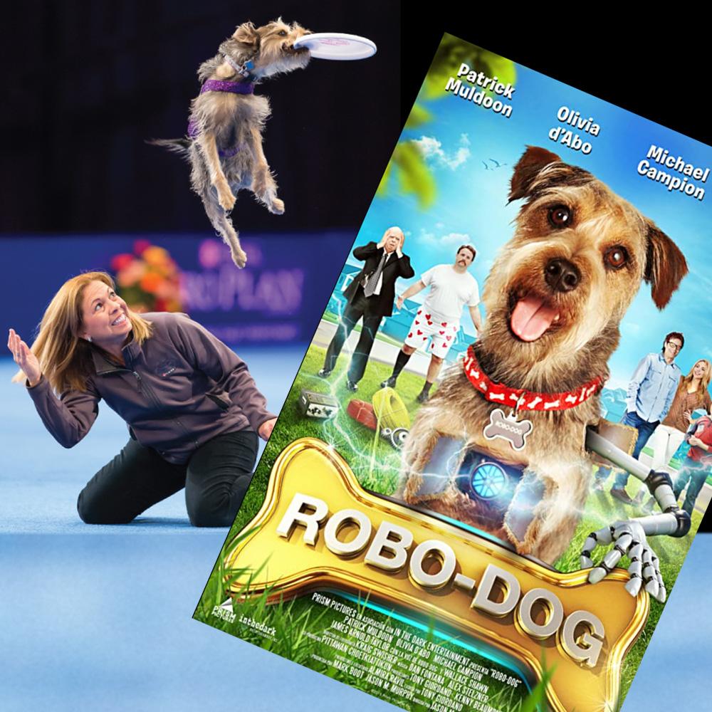 Lourdes' dog, Mac, starred as Robo-Dog