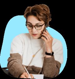A BillFixers negotiator on the phone negotiating bills.