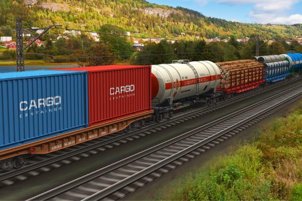 Spedizioni commerciali via treno, vantaggi | LESAM