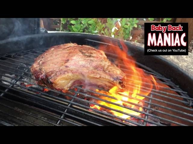 How to grill ribeye steak on Slow N Sear 26 inch Weber kettle | sear