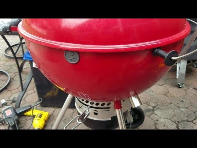WEBER KETTLE MODS | GURU PORT | PROBE PORT