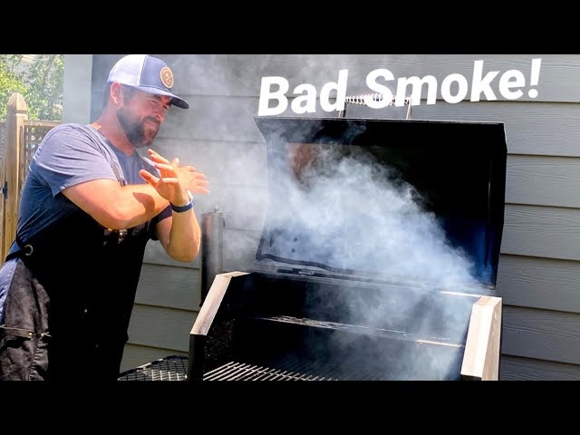 BBQ White Smoke, Dirty & Bad smoke!