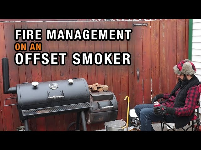 The RIGHT WAY to manage a fire on an offset smoker | Fire management on the Oklahoma Joes