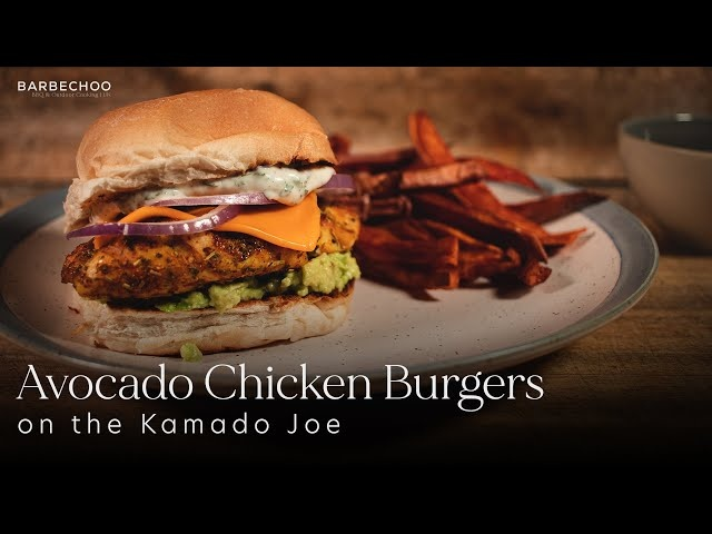 Avocado Grilled Chicken Burger | on the Kamado Joe | Barbechoo