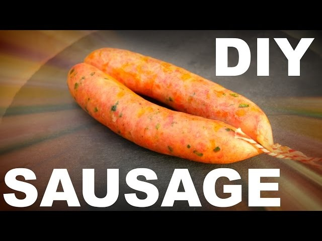 SMOKED TEXAS BBQ SAUSAGE - How To Make Sausage - Jalapeño & Cheddar