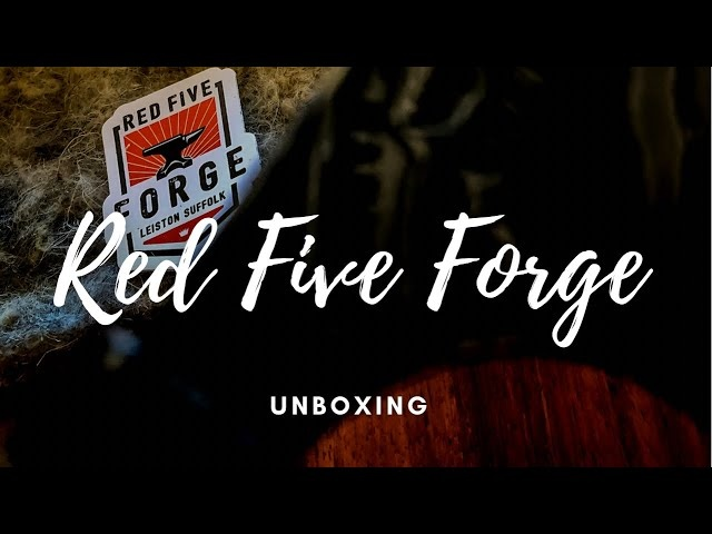 Unboxing a UK Hand Made Forged Knife by Red Five Forge Knife - HGC
