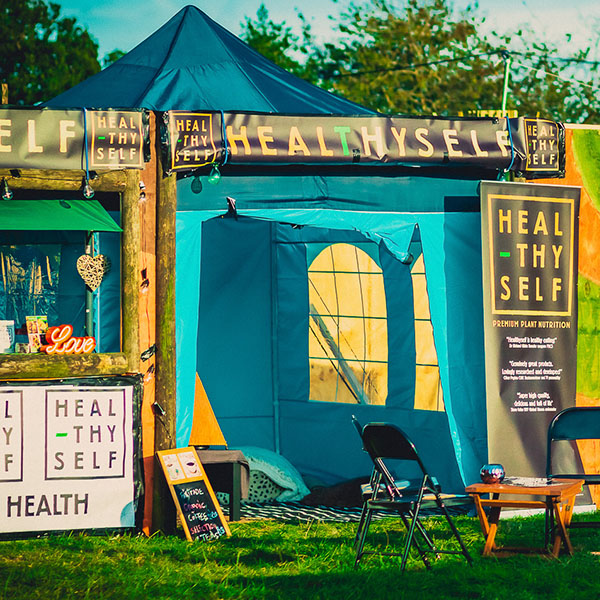 healthy shop at festival