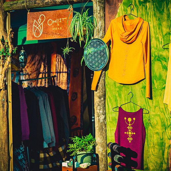 clothes shop at festival