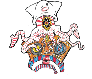 DJ squid character