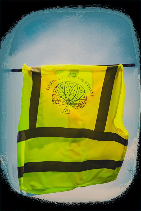 hi vis jacket with giving tree logo