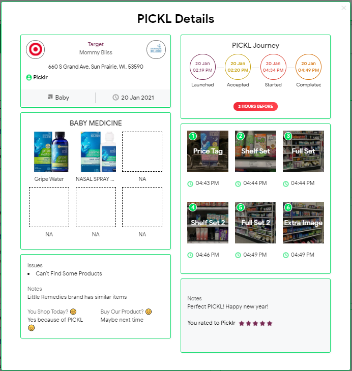 Brands love using PICKL to understand the retail customer journey, what is happening on shelf, who their competitors are and how consumers feel about their products