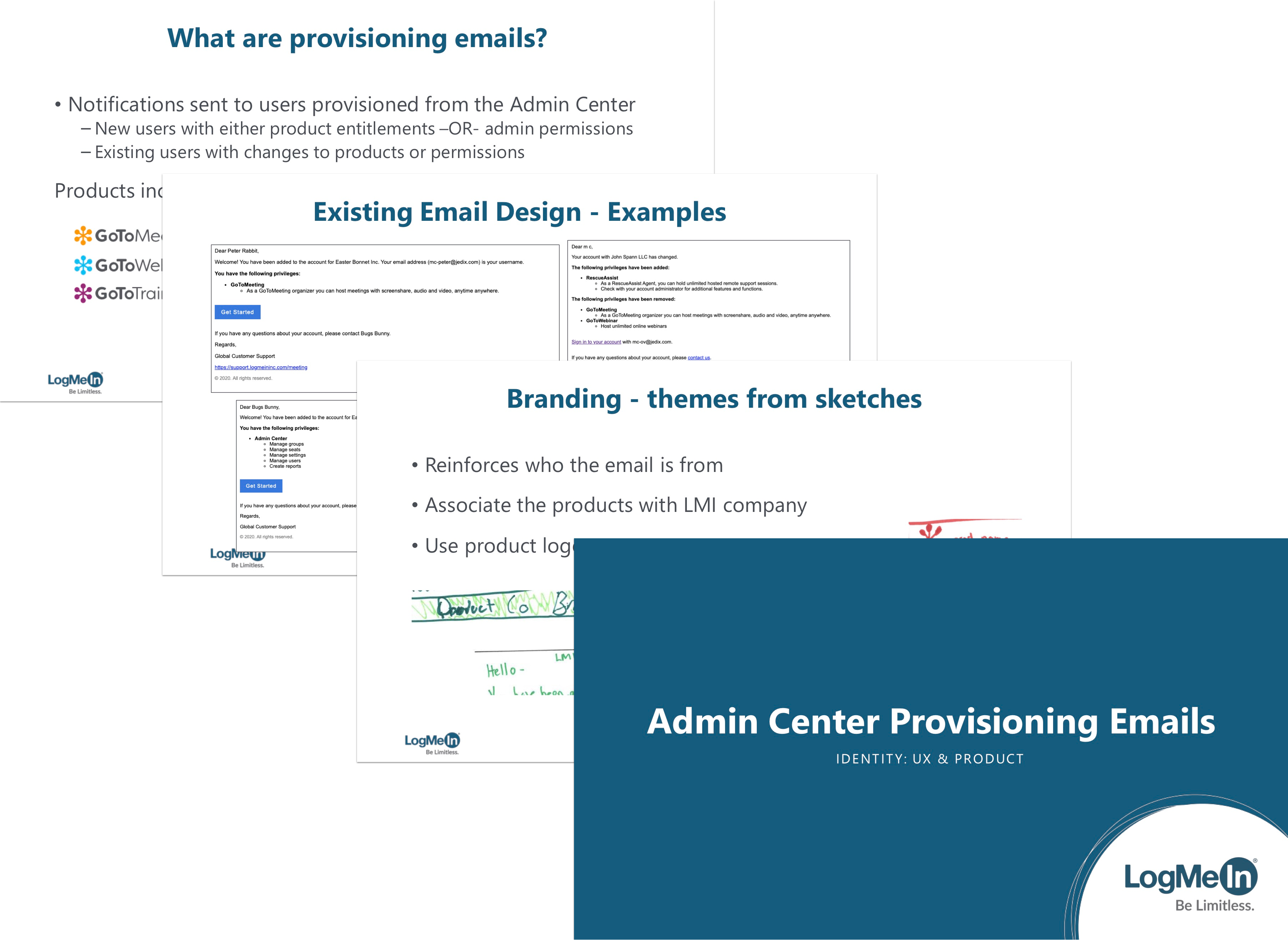 A sample of the presentation slides about the new emails.