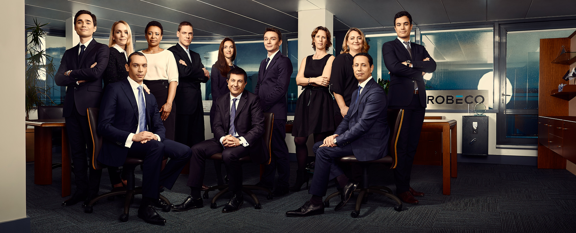 Portrait corporate in office for a Robeco national campaign