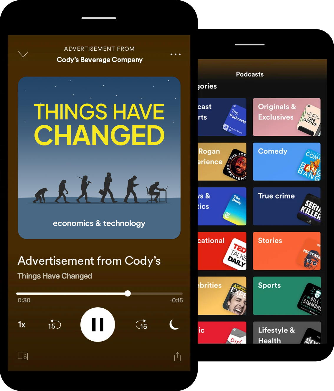 Things Have Changed Podcast advertising