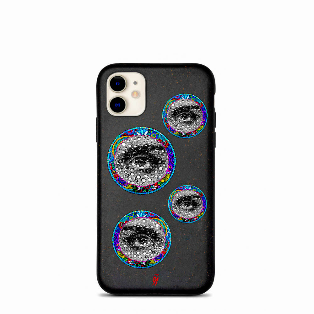 Keep your phone wrapped up and looking stylish — this phone case is eco-friendly and 100% biodegradable. Cover your phone with a unique case to protect it from bumps and scratches in style. British unisex retail house 91 Apparel was originally founded in 1991. We want you to flow with your magic all the time. • Art. no. 23 • 100% biodegradable material • Anti-shock protection • Decomposes in ~1 year • 91 APPAREL logo • Beautiful colors and bold design • Materials ethically sourced from Spain