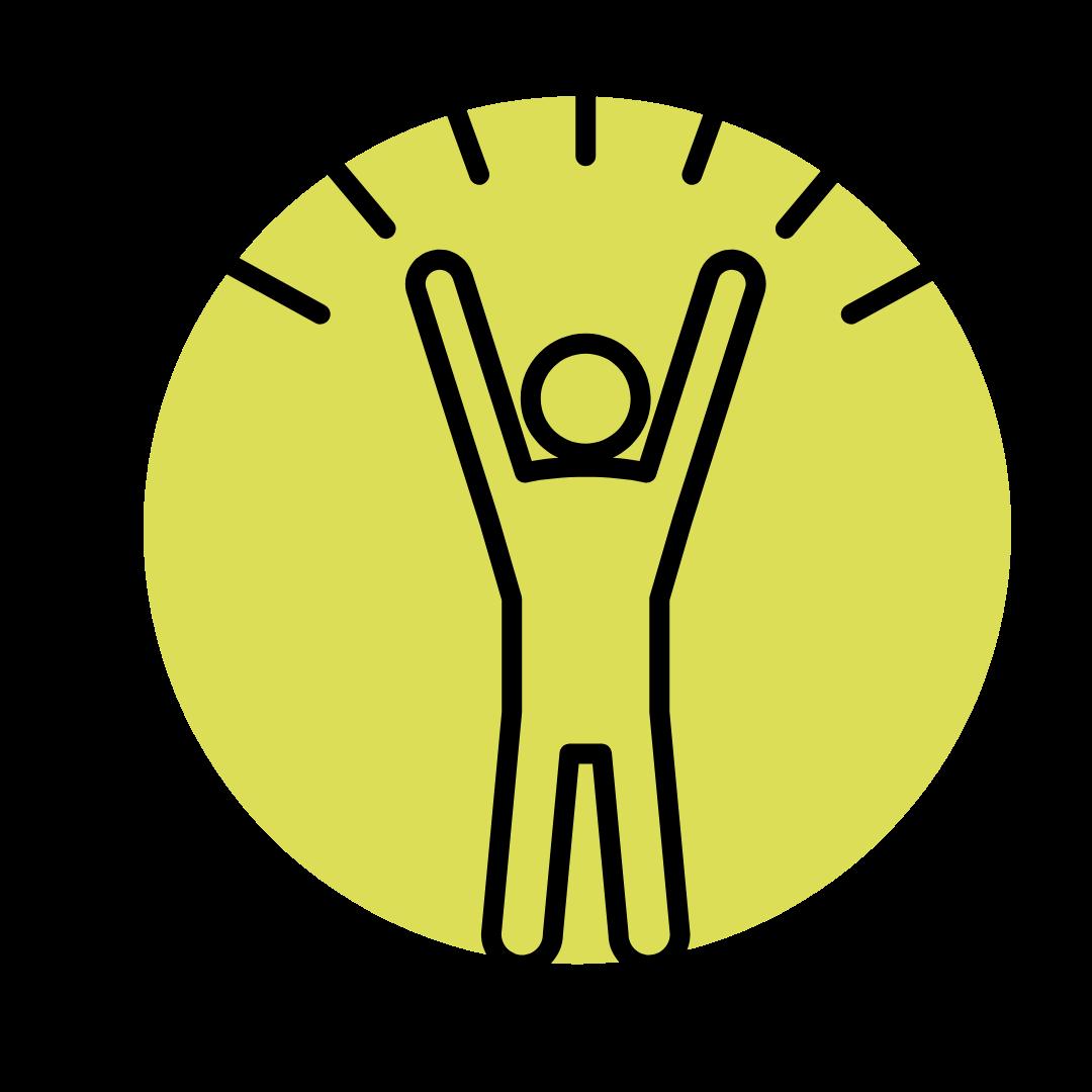 Happy person icon