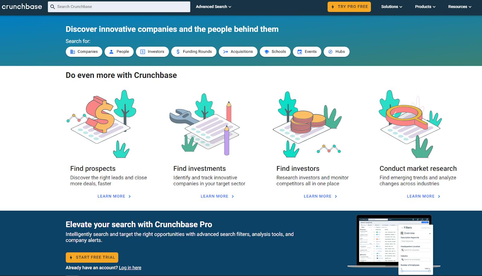 crunchbase for prospecting