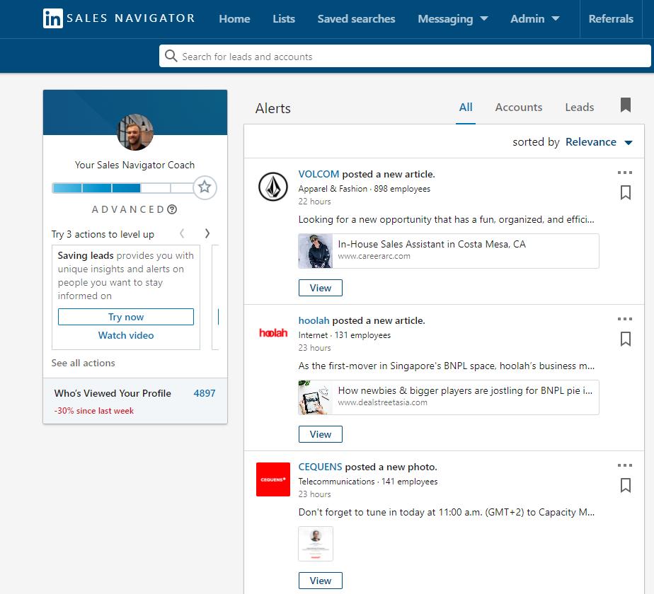 how to use linkedin sales navigator for prospecting