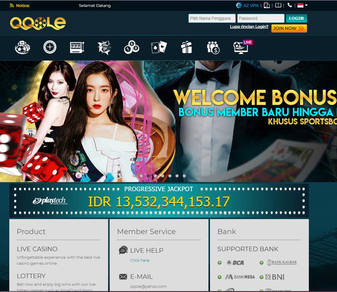 Qqole Situs Taruhan Bola Mesin Slot Online Agen Poker Dan Live Kasino Indonesia