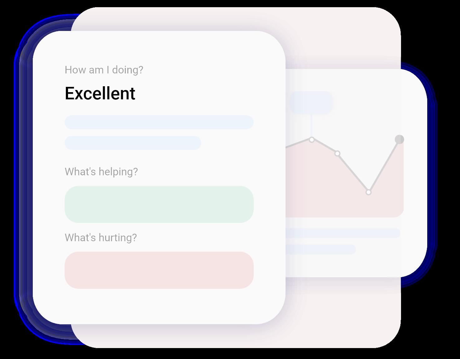Mockup of Credit Health screens in the Flux App