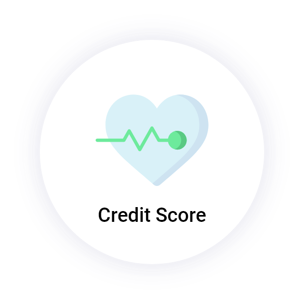 """Credit Health"" button with a heart and pulse icon"