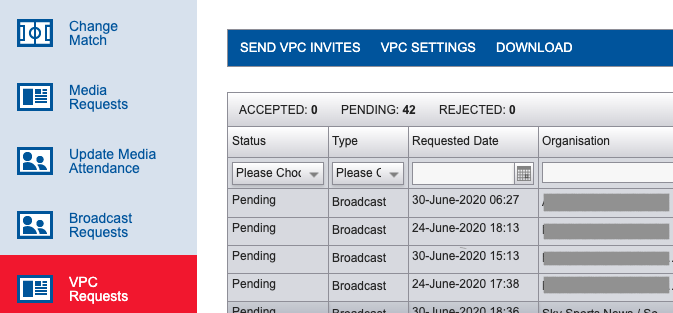 iPBS VPC Request Download Report