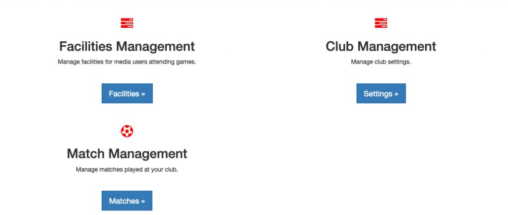 iPBS Club Admin Options
