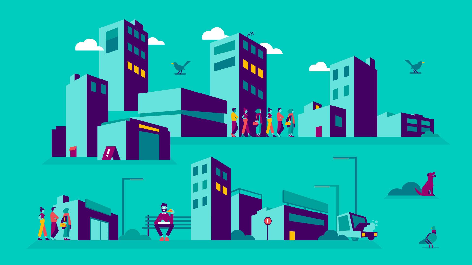 Deliveroo cityscape