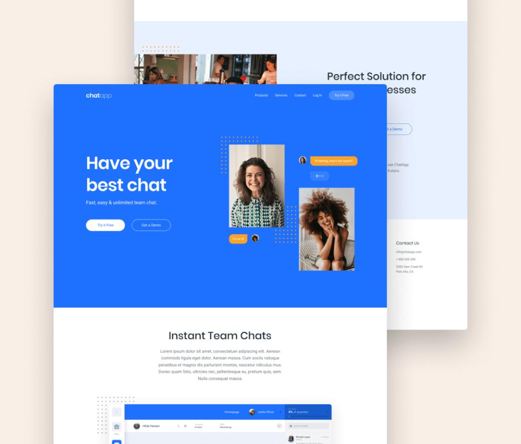 Sito web - Concept - Applicazione chatapp