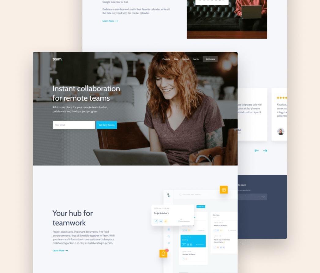 Sito web - Concept - piattaforma per la collaborazione del team