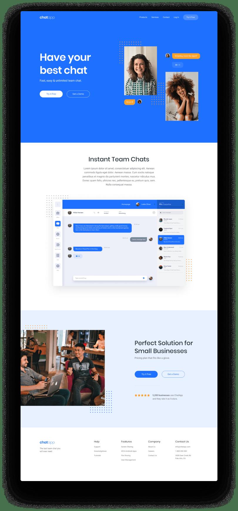 Web Plus IT | Chat App Website | Sito vetrina