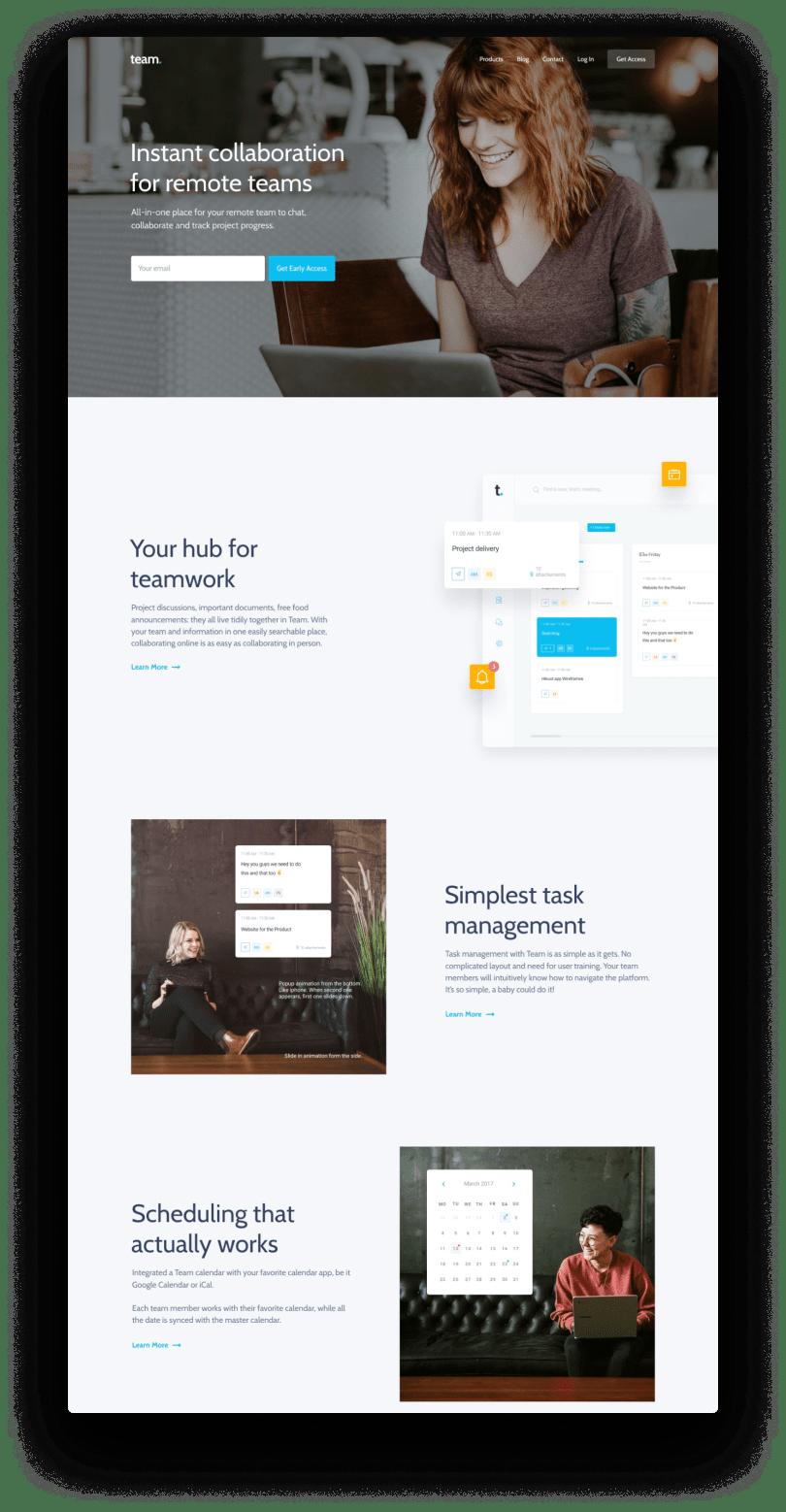 Web Plus IT | Team App Website | Sito vetrina