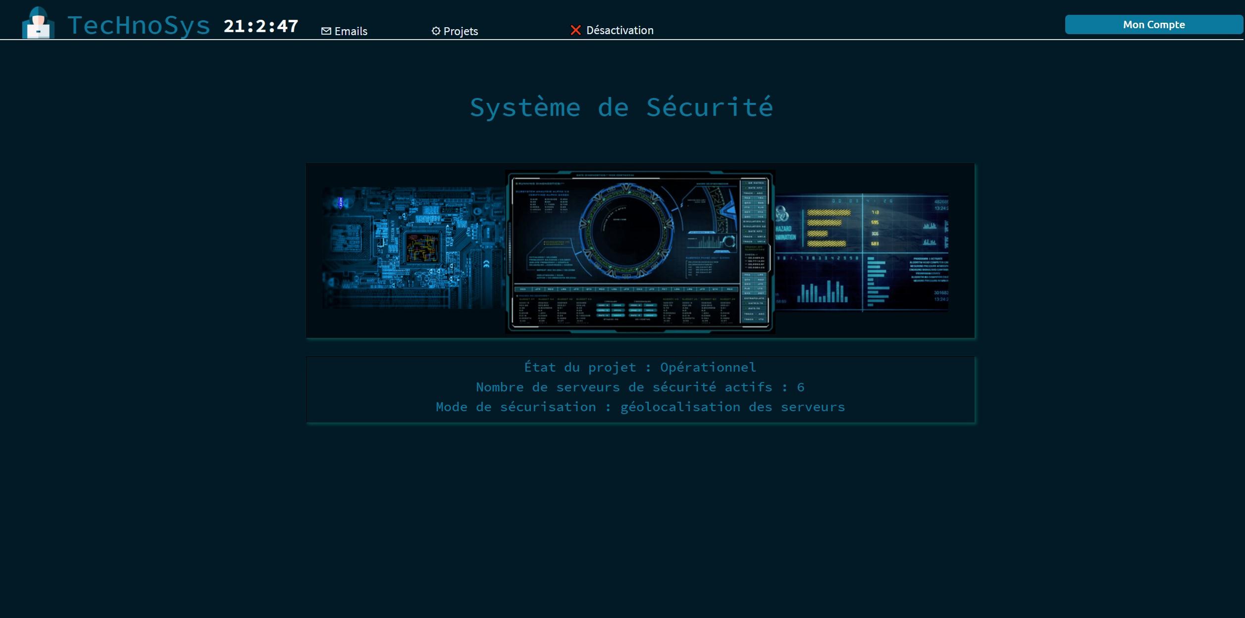 screenshot écran jeu