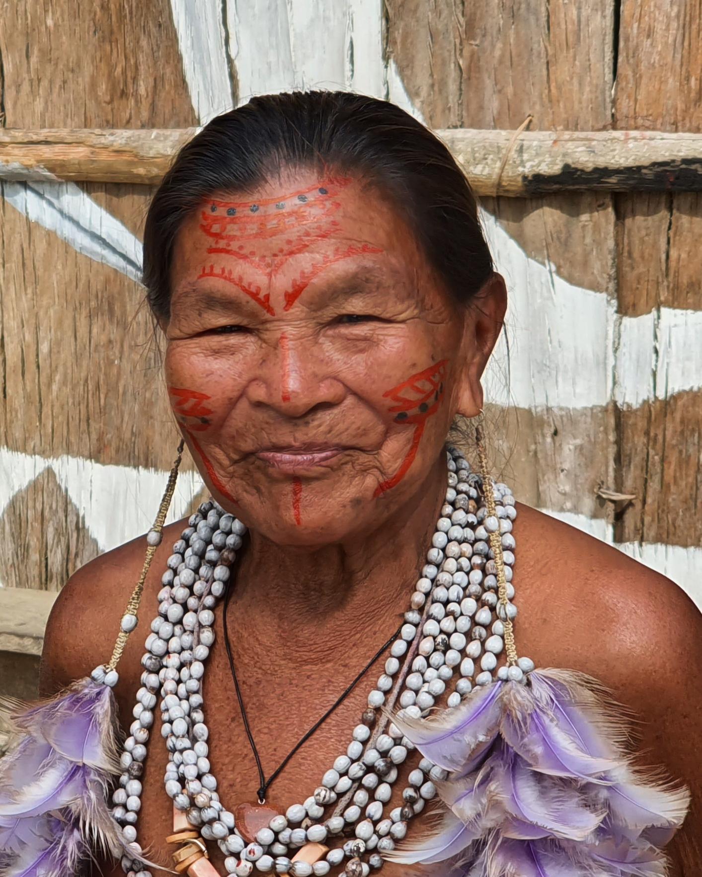 Indigenous woman in Amazon Rainforest