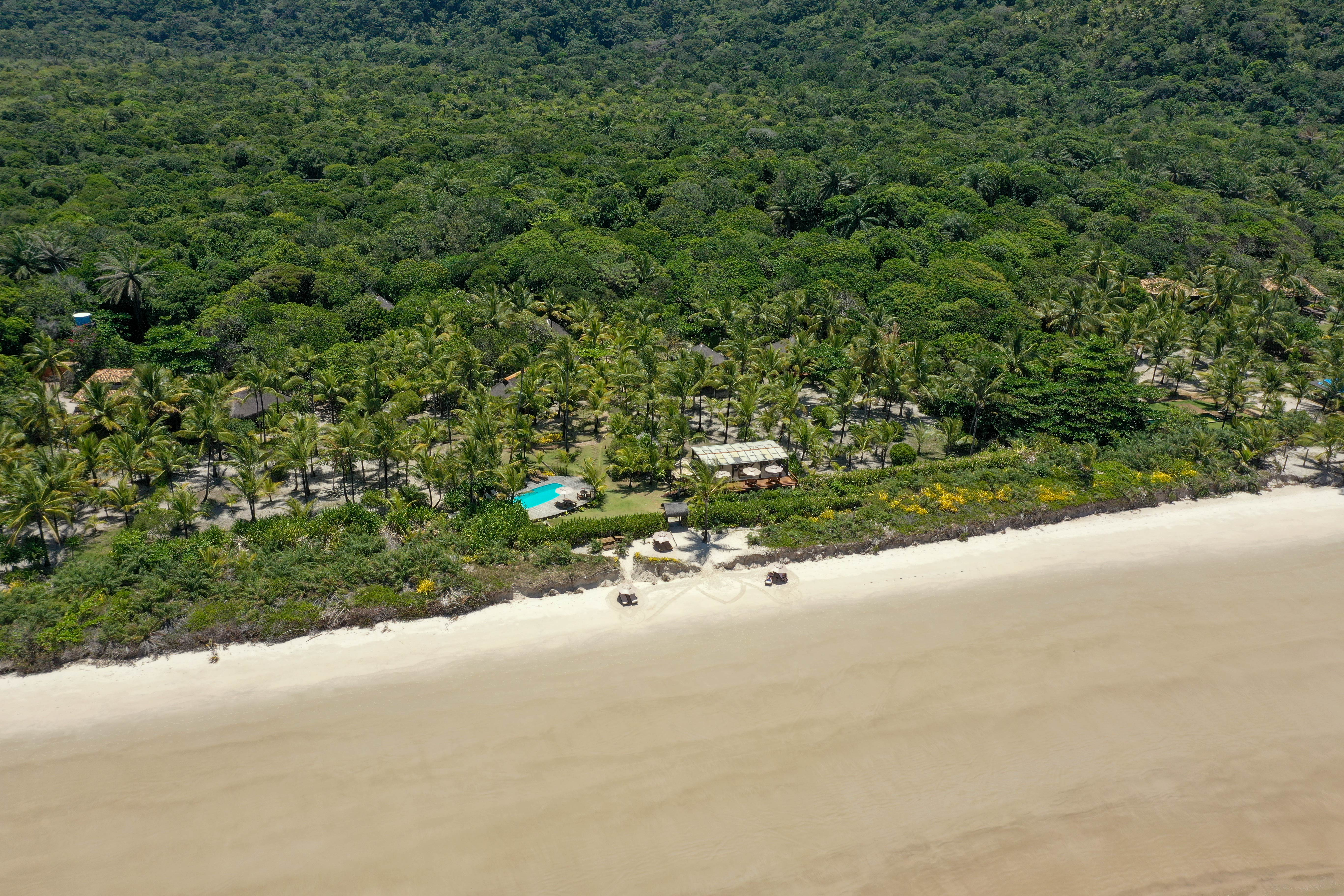 Ecolodge in Bahia Brazil with Beach Rainforest