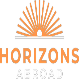 The logo for Horizons Abroad, a leader in summer language immersion for High School students.