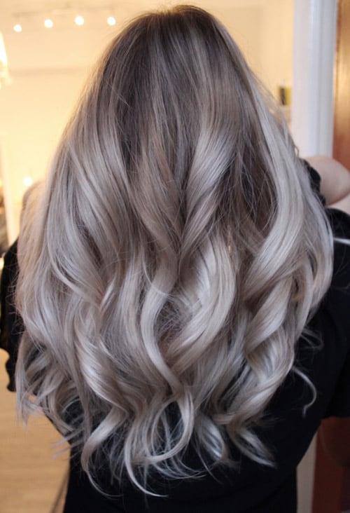 Balayage ice blond
