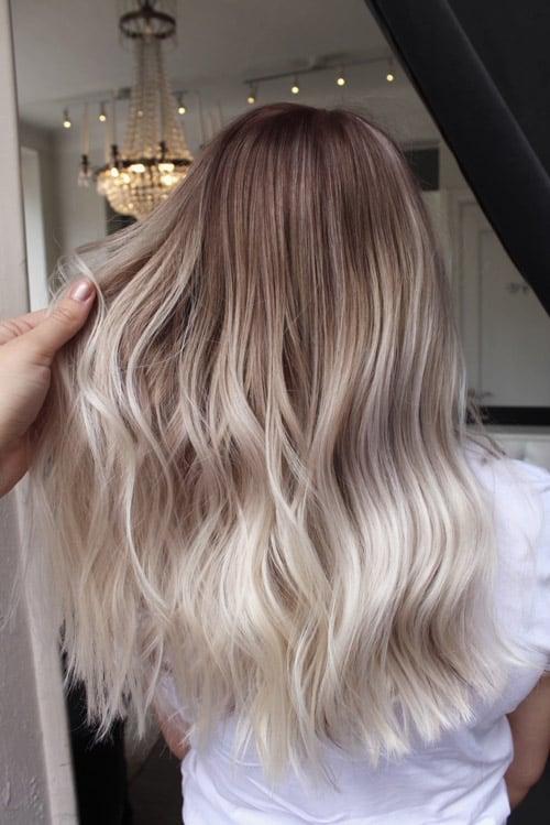 Balayage kall blond