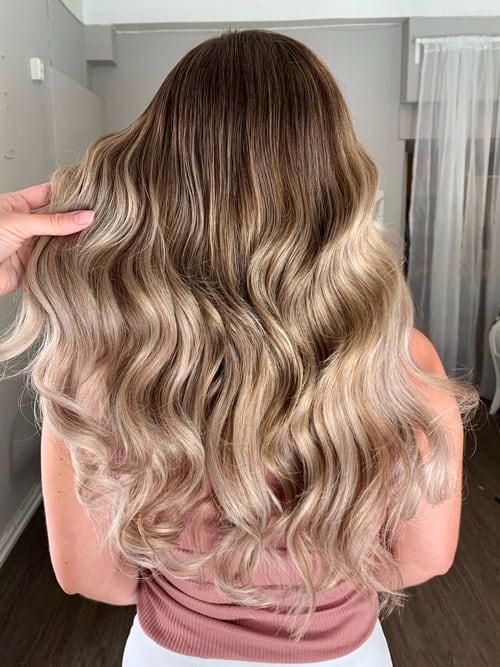 Balayage varm blondin 1